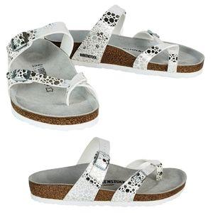 New Birkenstock mayari toe sandals metallic silver